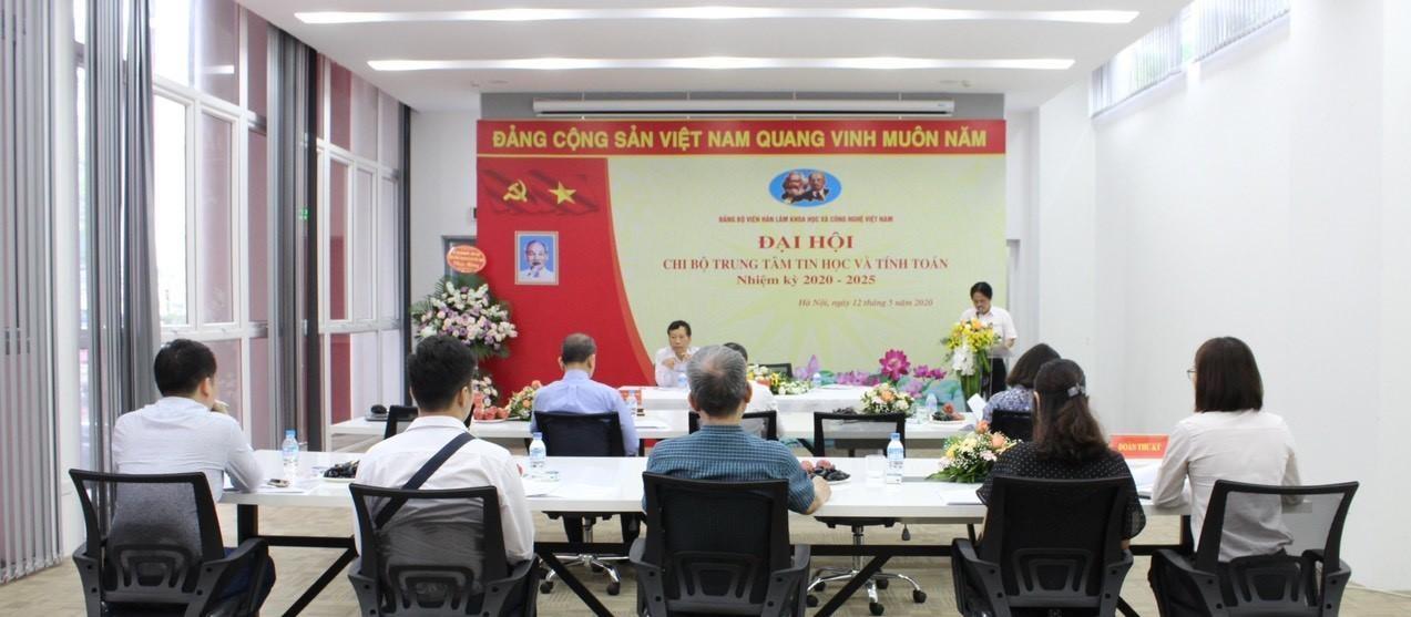 Trung tâm Tin học và Tính toán tổ chức Đại hội Chi bộ nhiệm kỳ 2020-2025